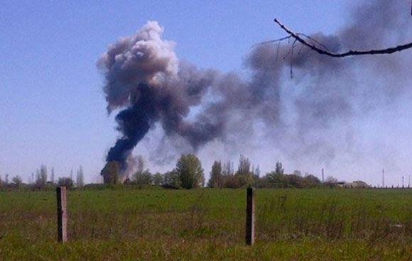 В Краматорске взорвали украинский военный вертолет