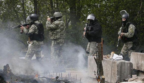 В Донецкой области атакован блокпост пророссийских ополченцев
