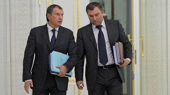 Сечин и Володин попали под санкции