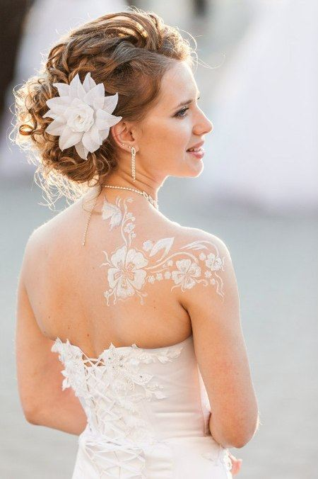 Свадебный боди-арт