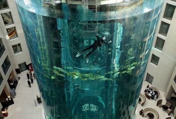 AquaDom самый большой аквариум в Германии
