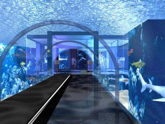 Аквариум Генуи это огромная система резервуаров