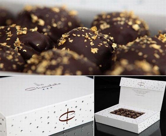 Самые дорогие в мире шоколадные конфеты со стразами Swarovski