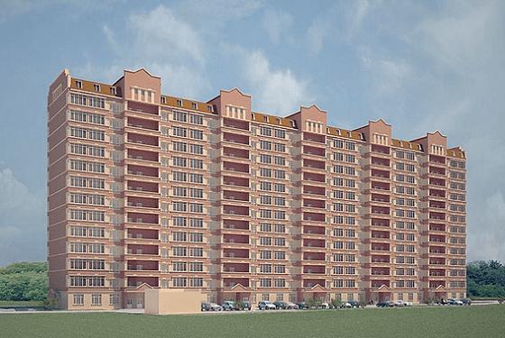 Макет будущего 14-этажного дома в Находке