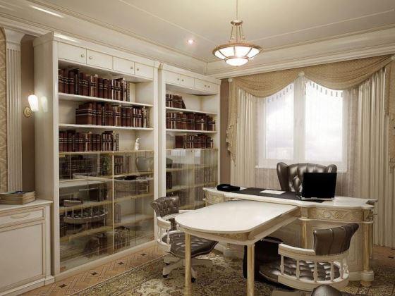 Светильник в кабинете может разбавить чрезмерно деловой стиль