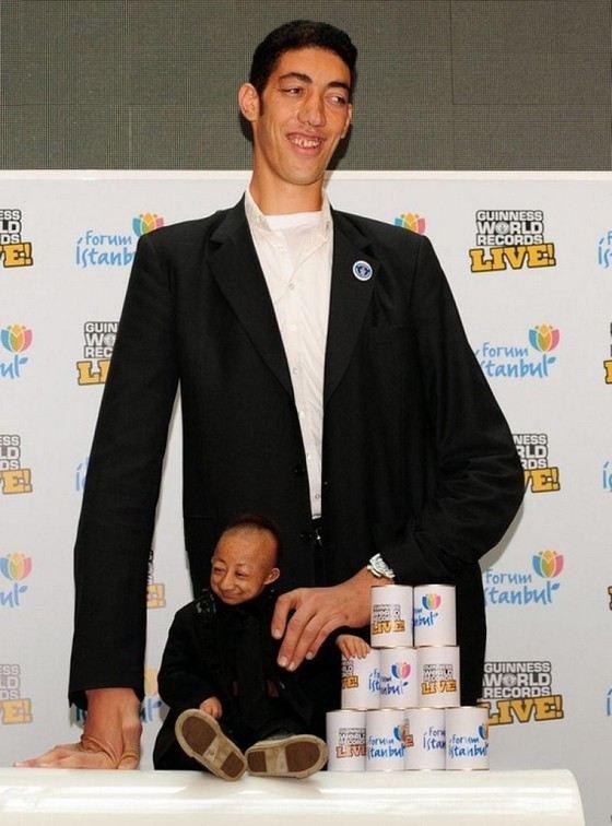Самый большой и самый маленький человек на Земле