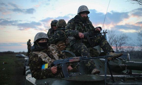 У Константиновки, Донецкая область, начался бой