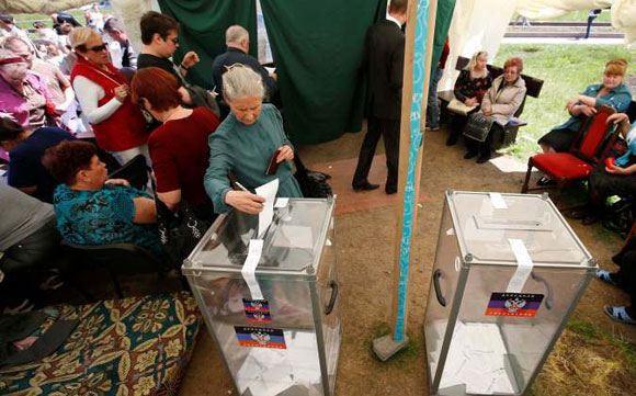 ЦИК: большая часть избирателей в Донецкой области высказались в пользу независимости
