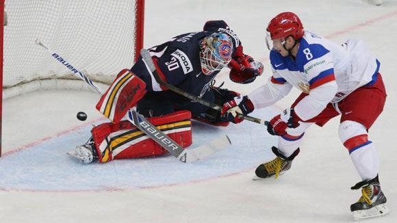 Сборная России на чемпионате мира по хоккею разгромила команду США