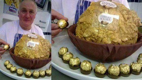 Пятикилограммовая конфета Ferrero Rocher