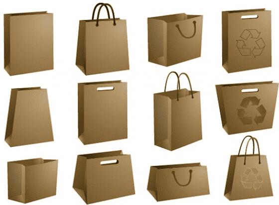 Разнообразные крафт-пакеты