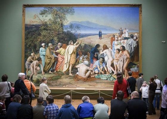 """""""The Appearance of Christ to the People"""" is the largest painting of the Tretyakov Gallery"""