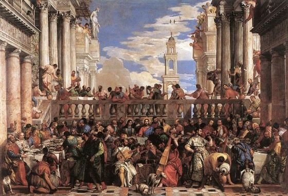 """The biggest painting in the Louvre """"The Marriage in Cana of Galilee"""""""