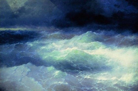 """""""Among the waves"""" is the largest picture of Aivazovsky"""