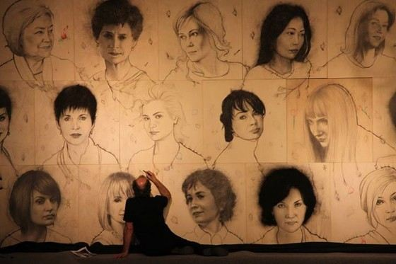 Omar Galliani created the largest drawing in the world.