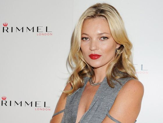 Kate Moss has been the face of Rimmel for many years.