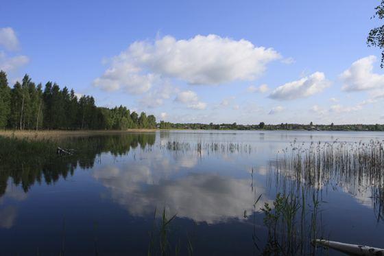Beloe is a big lake in Russia