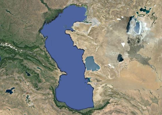 Russia's largest lake - the Caspian Sea