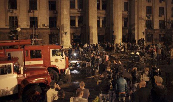 МВД Украины: причиной гибели людей в Доме профсоюзов в Одессе стал хлороформ