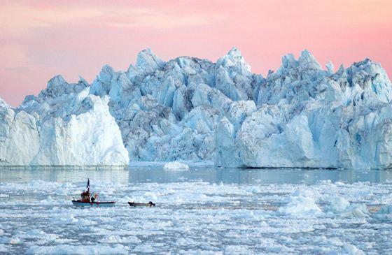 Одно из самых холодных мест в мире - Гренландия