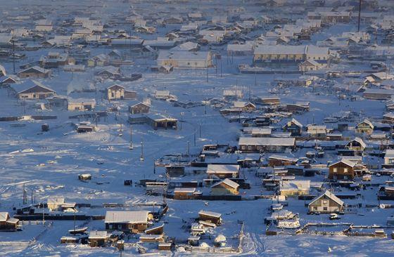 Почти самый холодный город в мире - Оймякон