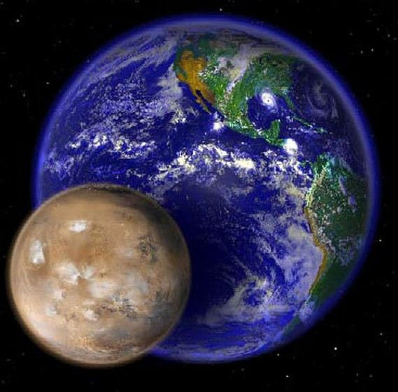Mars is much smaller than Earth