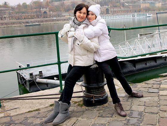 Лариса Гузеева с дочерью Олей