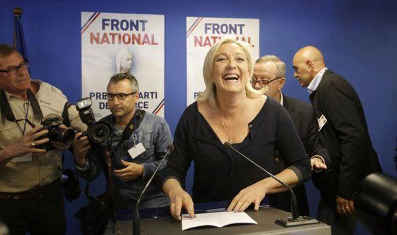 Партия Марин Ле Пен побеждает на выборах в Европарламент во Франции
