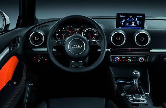Оформление Audi безупречно как снаружи, так и внутри