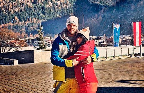 "Maxim Chernyavsky and Masha, winner of the ""Bachelor"" project"