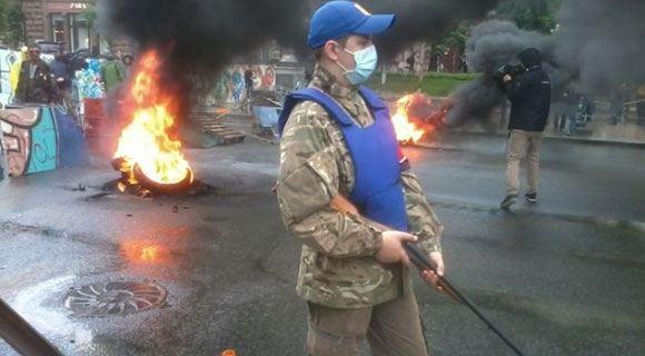 Майдановцы протестуют против указа о сносе палаточного городка в центре Киева