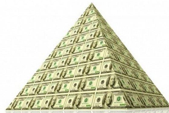 Финансовые пирамиды могут достигать гигантских масштабов