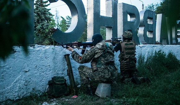Ополченцам удалось подбить несколько армейских БТРов под Славянском