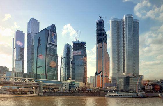 Башни Москва-Сити продолжают расти