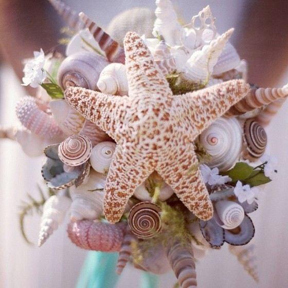 Свадебный букет из необычных материалов