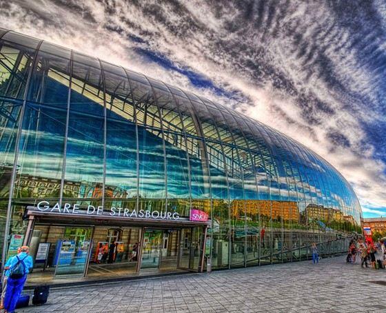 Вокзал в Страсбурге один из самых больших и красивых в Европе