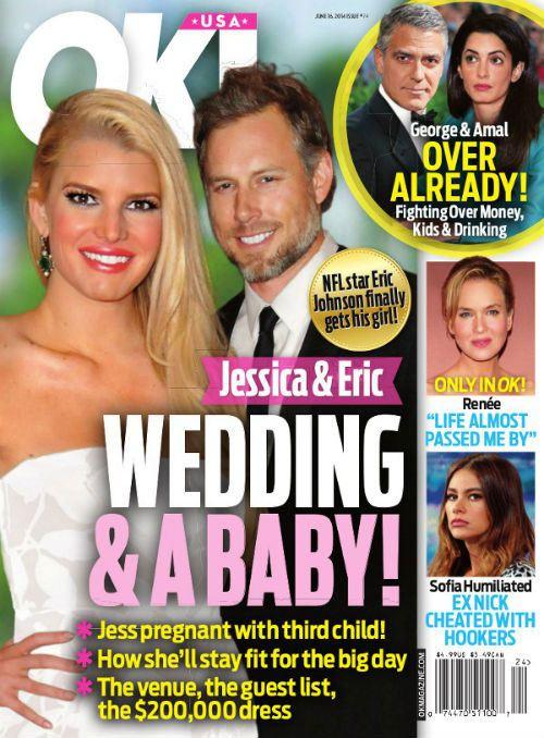 По данным журнала ОК! Джессика Симпсон беременна