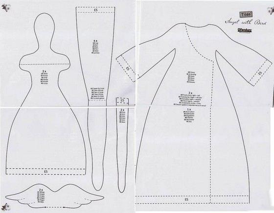 Кукол тильд рукодельницы шьют самостоятельно. Выкройки легко найти в интернете