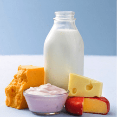 В составе молочных продуктов