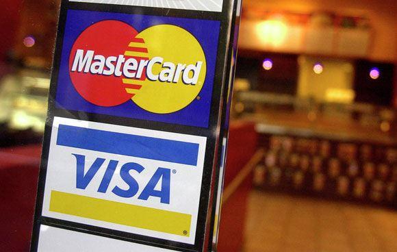 ������ ������ ������� ����� ��������� ������� ��� Visa � MasterCard