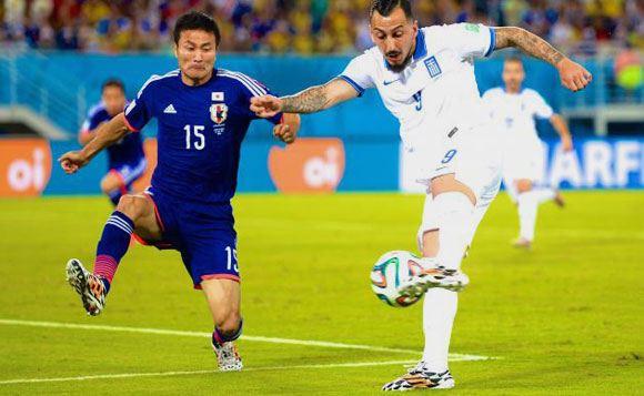 Японцы и греки закончили матч вничью