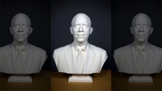 Барак Обама в 3D