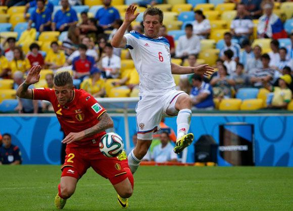 Российская сборная проиграла команде Бельгии