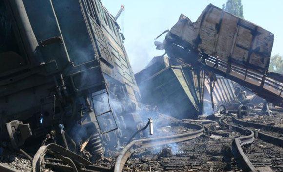 В Донецкой области произошло два взрыва на железной дороге