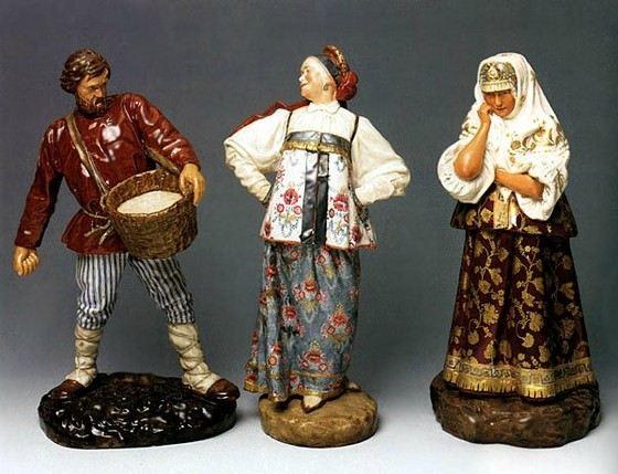 Куклы, изготовленные на Императорском фарфоровом заводе