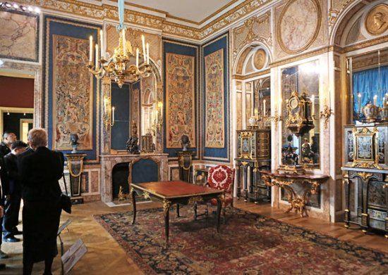 Интерьер из особняка, где жила мадам де Помпадур, фаворитка Людовика XV
