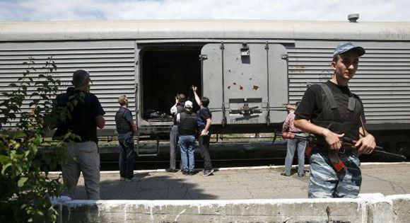Поезд с телами пассажиров разбившегося «Боинга» прибыл в Харьков