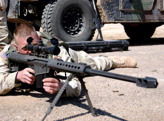 The most long-range rifle in the world in action
