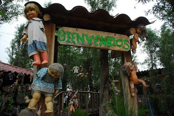On the island of creepy dolls in Mexico