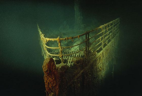 You can look at the Titanic on the ocean floor